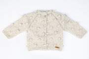 Popcorn baby toddler 100% hand knitted Cardigan