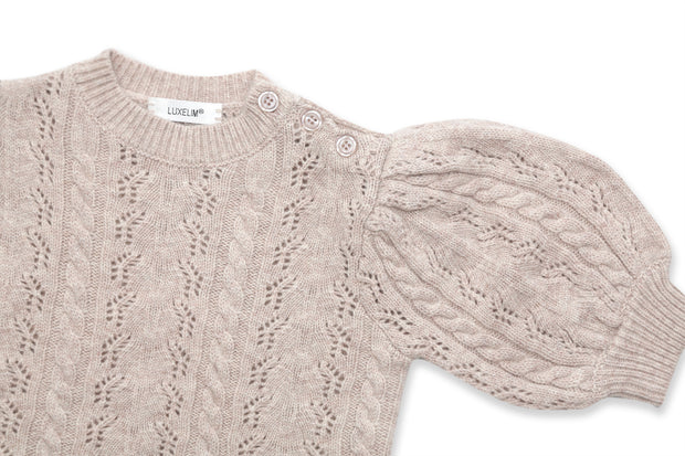 Claire Cashmere puff sleeves sweater