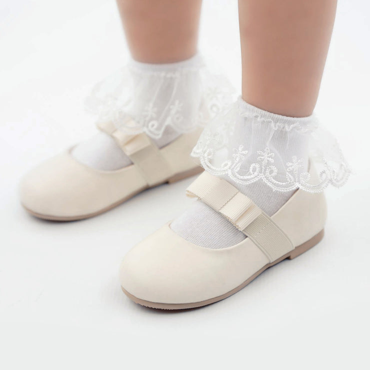 White  little girls Socks