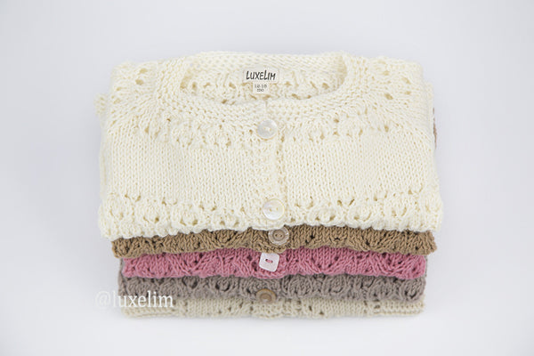 2d218f7cd85f Baby hand knitted cardigan 100% Merino wool – LuxeLim