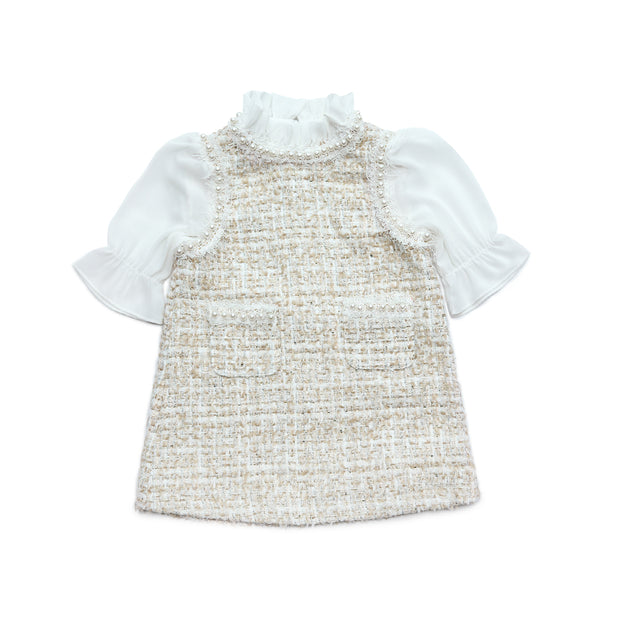 Diana tweed Dress Beige