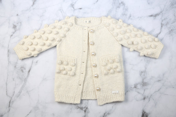 Pre-order Kids Alpaca Cardigan with Pearl buttons