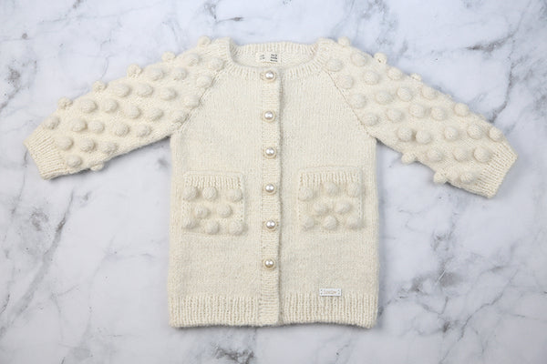 Luxury Alpaca Cardigan with Pearl buttons