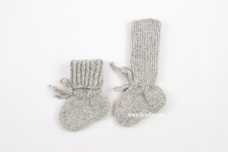 Baby Booties / Alpaca wool hand knitted Socks