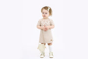 Merino wool Hand knitted Beige Dress