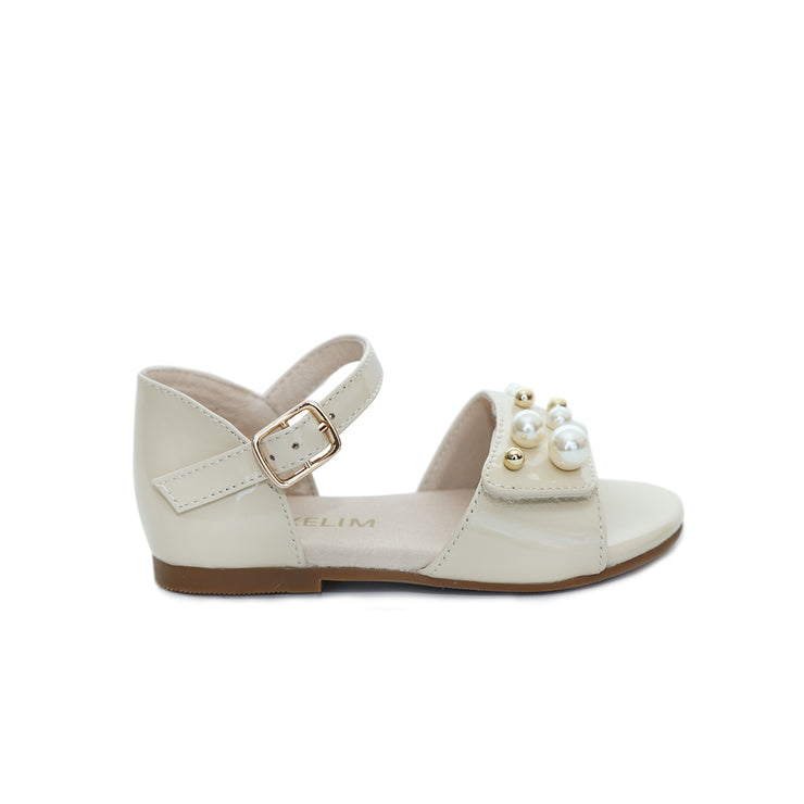 Emma Sandals Beige Patent Leather
