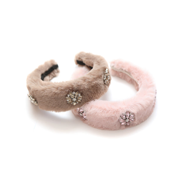 Faux-fur headband Nicole Collection