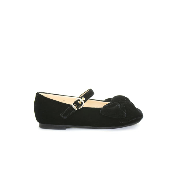 Victoria velvet bow shoes