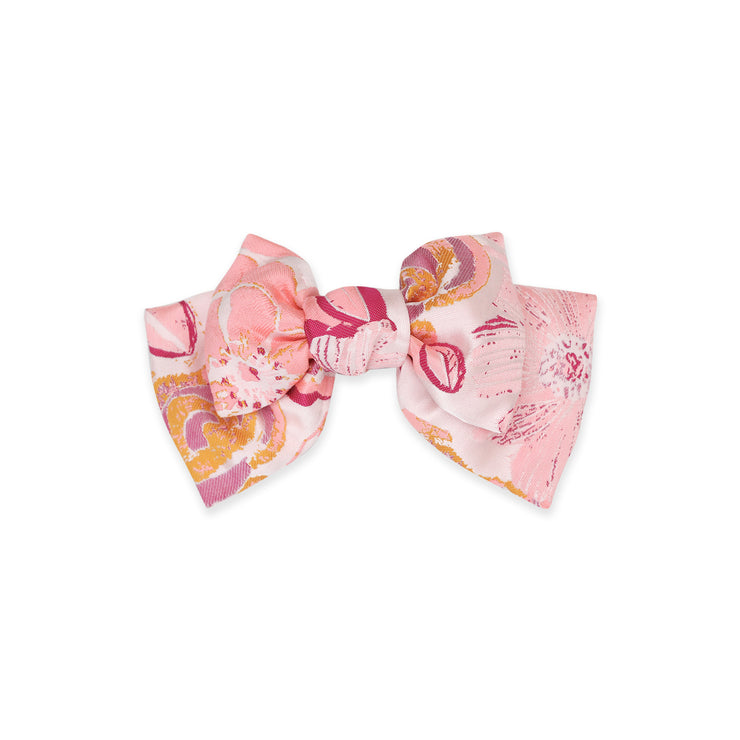 Angelica Jacquard floral Bow hairclip