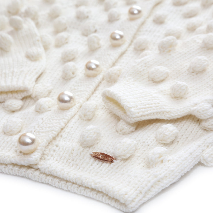Merino wool Sweater with Pearl buttons