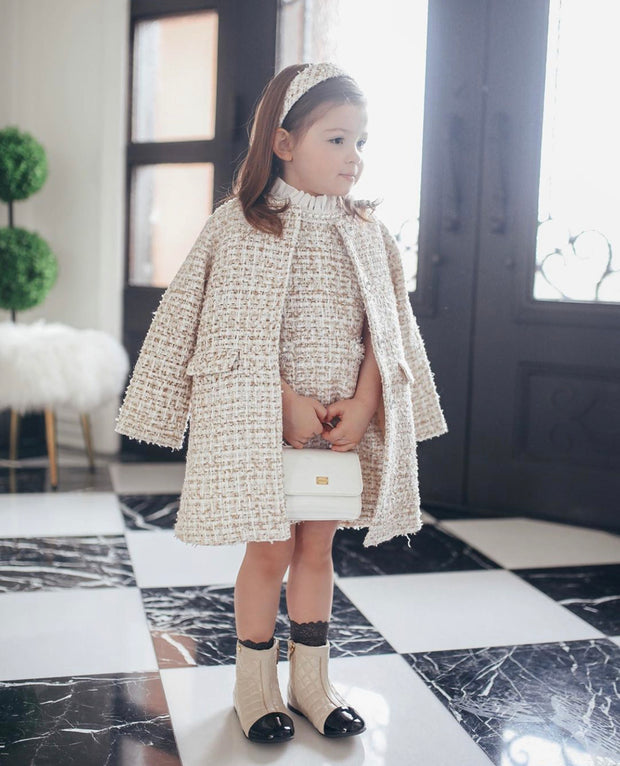 Diana tweed Coat / Jacket Beige
