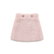 Pink faux-fur Skirt Nicole Collection
