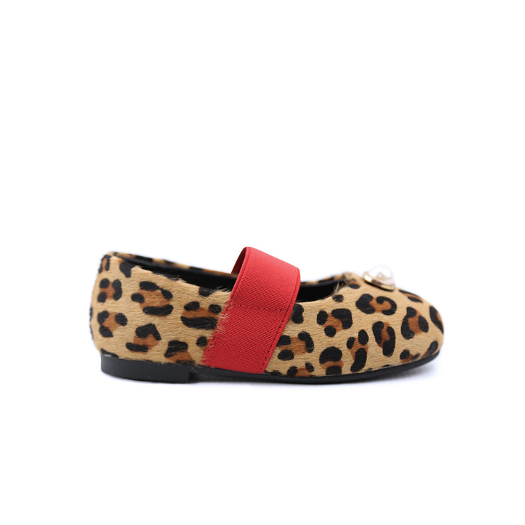 Evelyn Leopard print leather shoes