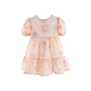 Sophia Dress with pink velvet bows