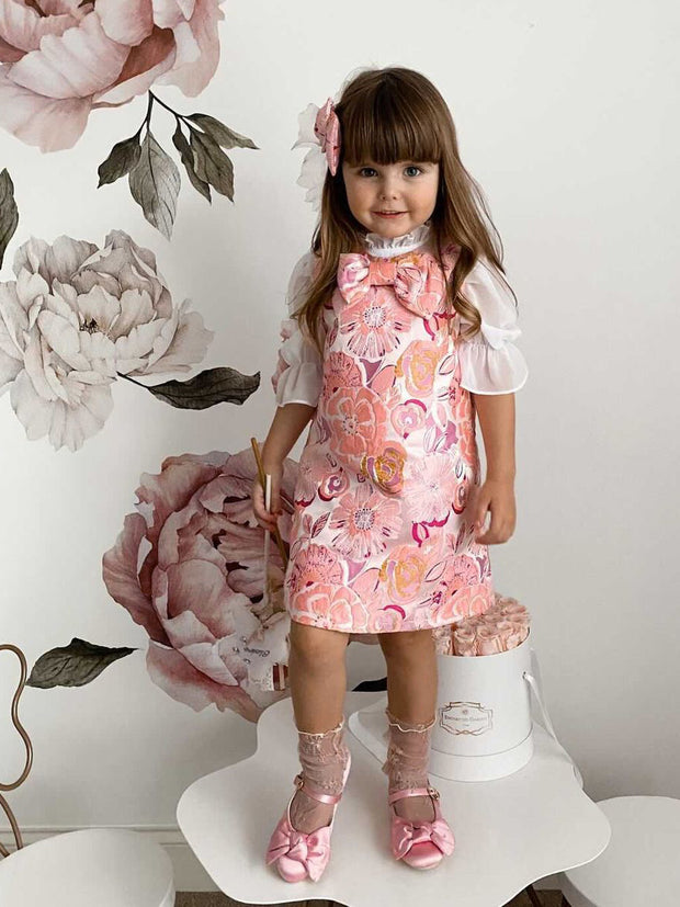 Angelica Floral jacquard Dress
