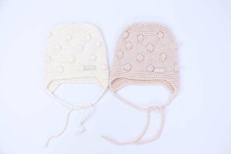 Popcorn baby / toddler Hats Merino wool