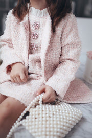 Diana tweed Dress Pink