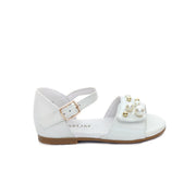 Emma White Patent Leather Sandals