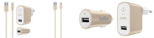 Belkin Lightning Wall/Car Charger Bundle