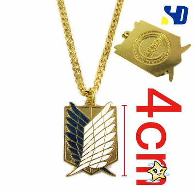 Anime Attack on Titan (Shingeki NoKyojin)- Wings of Liberty Metal Necklace