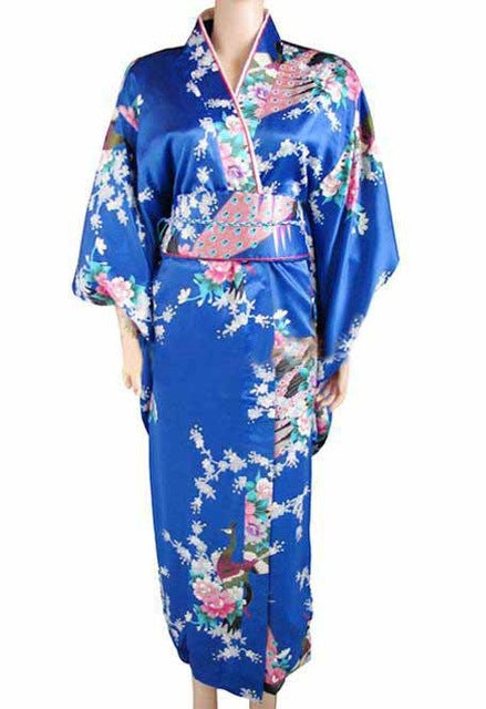 Traditional Japanese Women's Kimono - Dark Blue