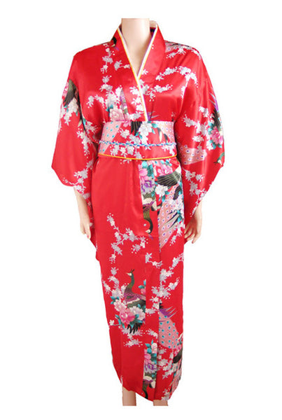 Traditional Japanese Women's Kimono - Red