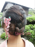 Hairpin - Sakura Headwear Clip  For Kimono / Yukata or Cosplay With Tassels