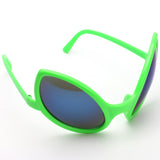 Funny Alien Costume Sunglasses - Green