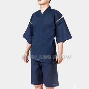 Japanese Kimono With Short Sleeve For Men - Style 1