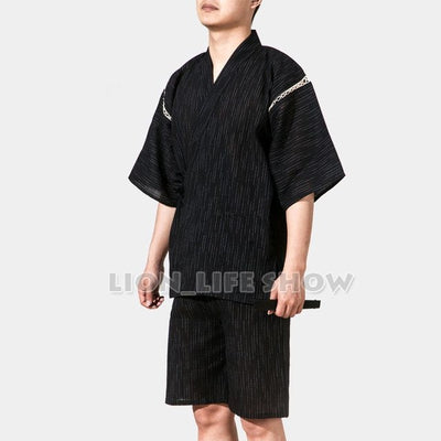 Japanese Kimono With Short Sleeve For Men - Style 4