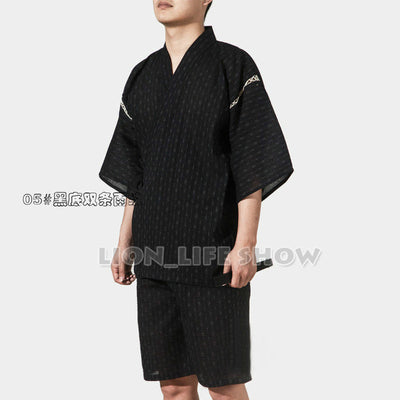 Japanese Kimono With Short Sleeve For Men - Style 5