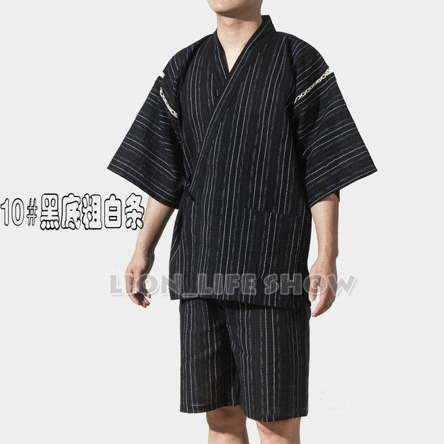 Japanese Kimono With Short Sleeve For Men - Style 7