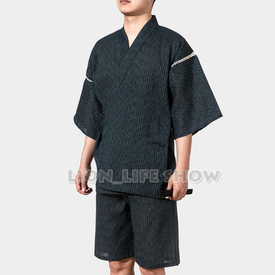 Japanese Kimono With Short Sleeve For Men - Style 8