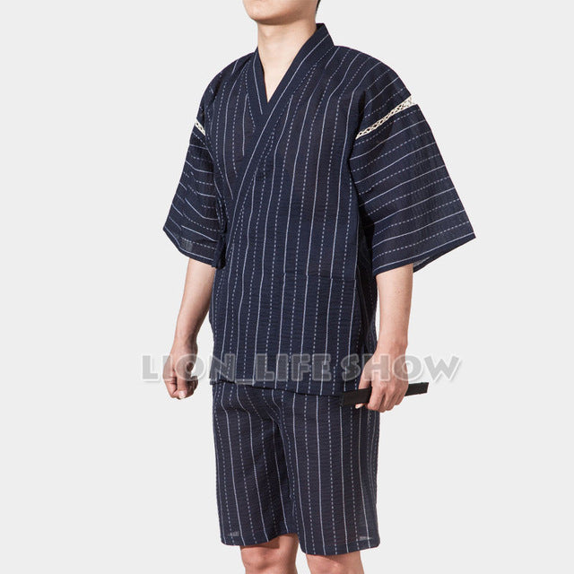 Japanese Kimono With Short Sleeve For Men - Style 9