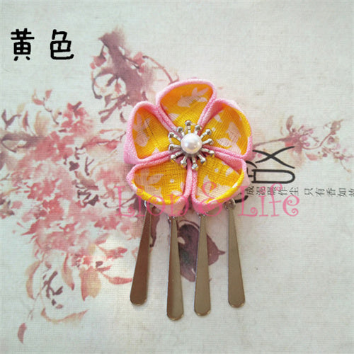 Flower Hair Clip/ Hairpin For Traditional Japanese Kimono/ Yukata Style 3