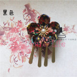 Flower Hair Clip/ Hairpin For Traditional Japanese Kimono/ Yukata Style 5