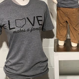 Love Makes a Family - Unisex Tee