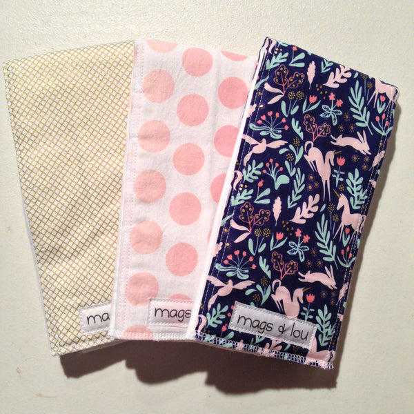 Burp Cloths -Set of 3