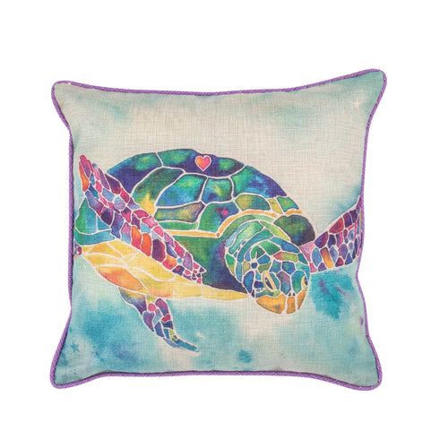 Elegant Interiors-Aqua/Pastels Maldives Sea Turtle