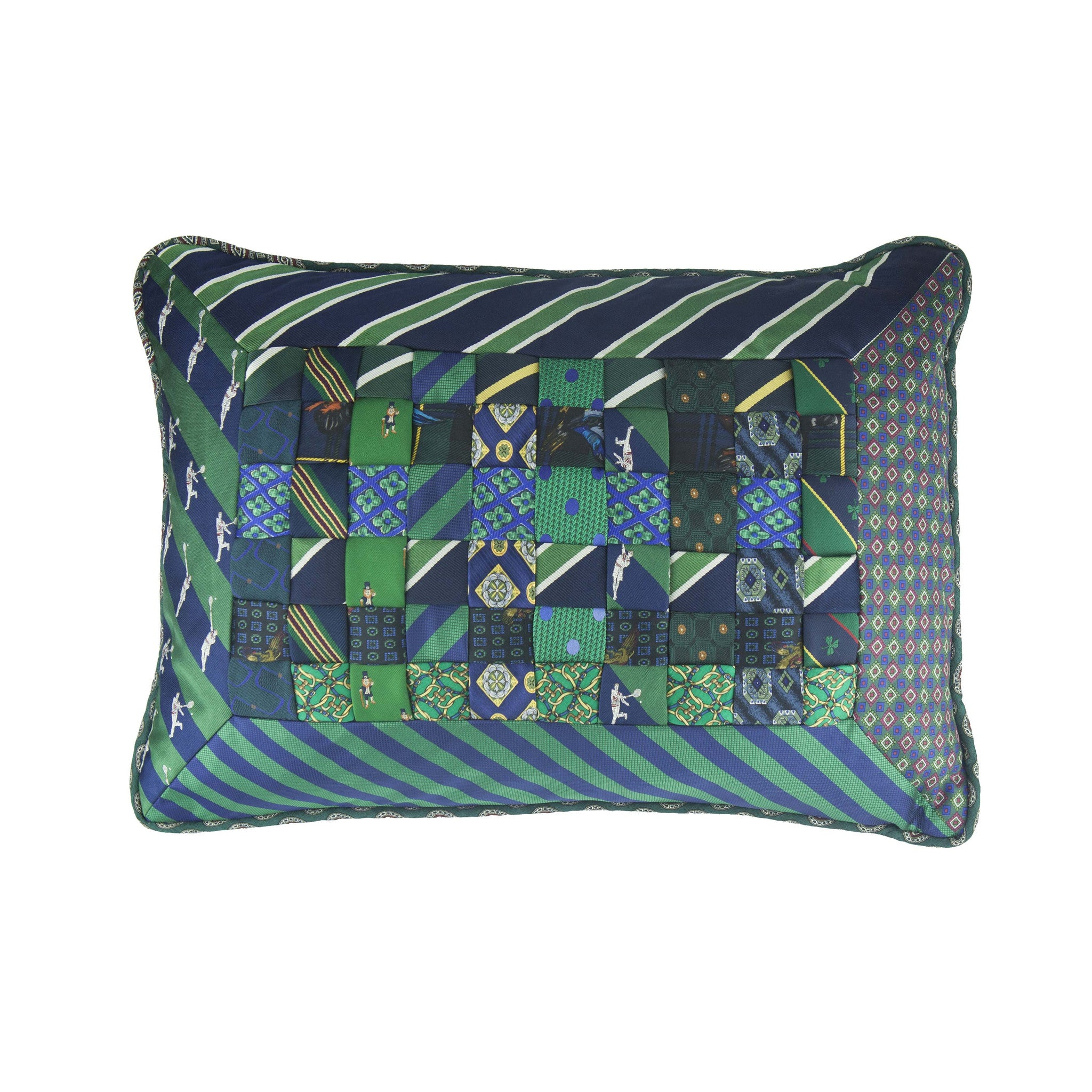 Elegant Interiors-Kelly Green/Navy Blue