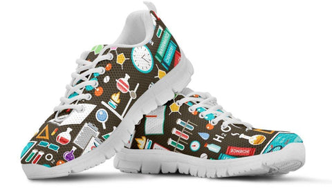 Science Pattern Sneakers - Spicy Prints