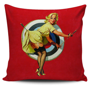 "Pinup Girl 18"" Pillow Covers - Spicy Prints"
