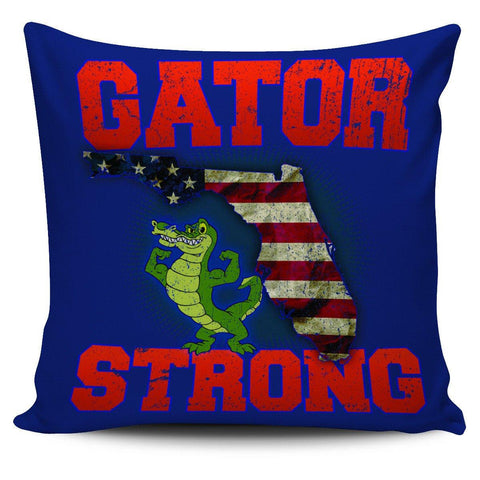 "Image of Gator Strong 18"" Pillow Cover - Spicy Prints"