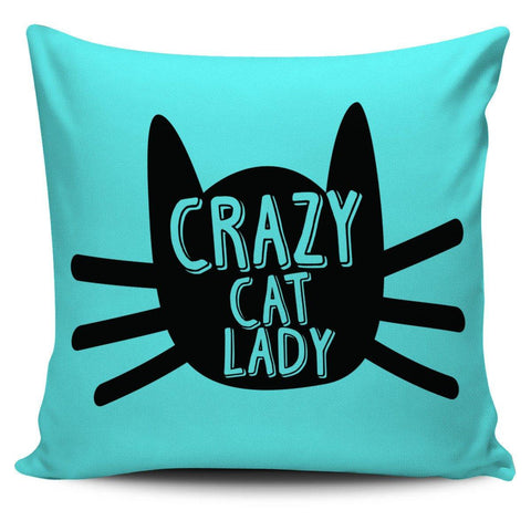 "Crazy Cat Lady 18"" Pillow Cover - Spicy Prints"