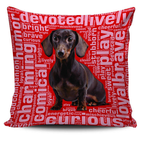 "Image of Dachshund 18"" Pillow Covers - Spicy Prints"