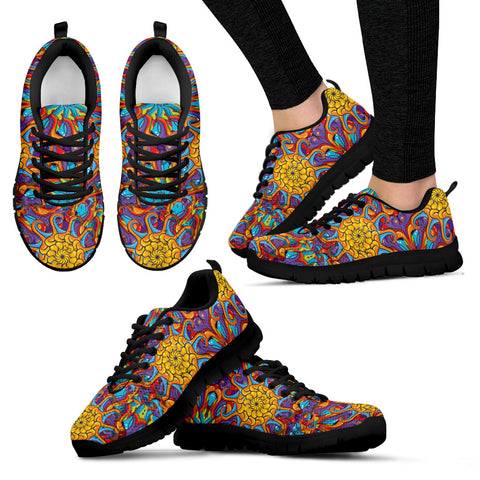 Colorful Abstract Women's Sneakers