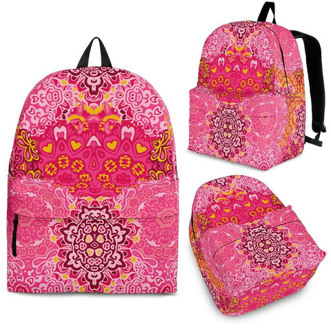 Yoga Pattern Pink Backpack - Spicy Prints