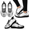 White Dandelion Sneakers(black)