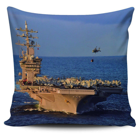 "Image of Aircraft Carrier Classics 18"" Pillowcase - Spicy Prints"