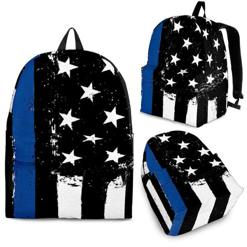 Image of Thin Blue Line Backpack - Spicy Prints